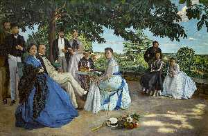 Jean Frederic Bazille - Family Reunion