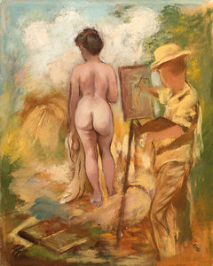 George Grosz - Artist and Model