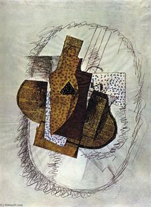 Georges Braque - Still life with Bottle of Bass