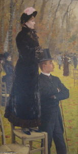 Giuseppe De Nittis - The Races at Auteuil, Paris
