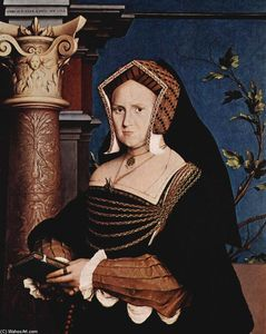 Hans Holbein The Younger - Portrait of Mary Wotton, Lady Guildenford