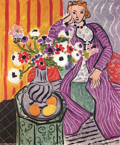 Henri Matisse - Purple Robe and Anemones