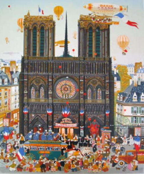 | Notre Dame by Hiro Yamagata | BuyPopArt.com