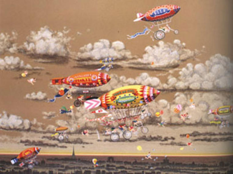 famous painting Sky Cycles of Hiro Yamagata