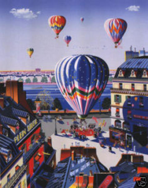 famous painting Balloon Wedding of Hiro Yamagata