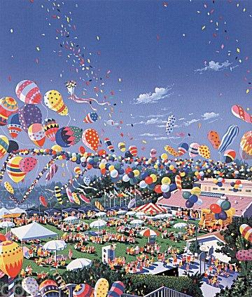famous painting A Day at the Fair of Hiro Yamagata
