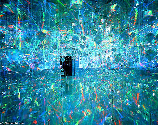 famous painting Installation at ACE Gallery, New York of Hiro Yamagata