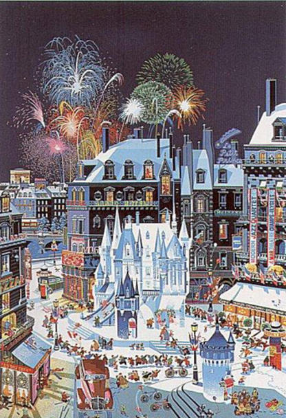 famous painting Snow Castle of Hiro Yamagata