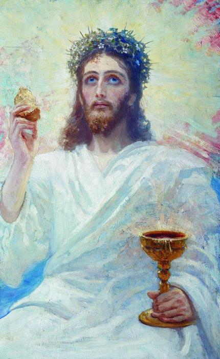 Order Art Reproductions Pop Art | Christ with a bowl by Ilya Yefimovich Repin | BuyPopArt.com