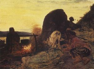 Ilya Yefimovich Repin - Barge Haulers at the Fire