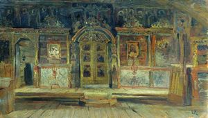 Isaak Ilyich Levitan - Inside the Peter and Paul Church in Plyos