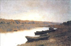 Isaak Ilyich Levitan - On the river Volga