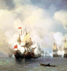 Ivan Aivazovsky - Battle of Chios on 24 June, 1770