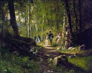 Ivan Ivanovich Shishkin - A Walk in the Forest
