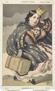 James Jacques Joseph Tissot - Sovereigns No.20 Caricature of Isabella II of Spain