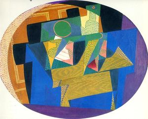 Juan Gris - Fruit Bowl with Bottle
