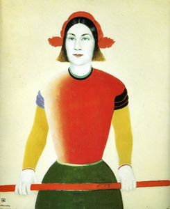 Kazimir Severinovich Malevich - Girl with Red Flagpole