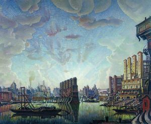 Konstantin Fyodorovich Bogaevsky - Port of imaginary city