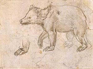 Leonardo Da Vinci - Studies of a BeWalking