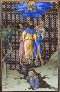Limbourg Brothers - The Sons of Core Thank God for Their Salvation