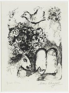 Marc Chagall - The Tablets of Law