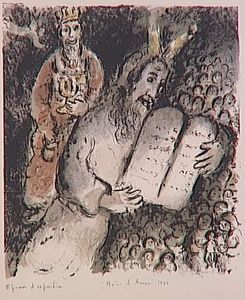 Marc Chagall - Moses and Aaron