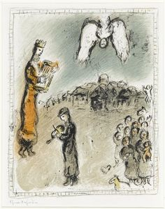 Marc Chagall - Appearance of king David