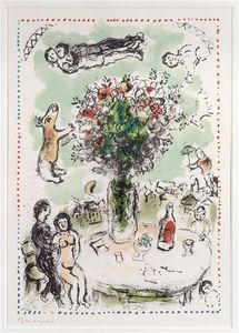 Marc Chagall - Table of lovers