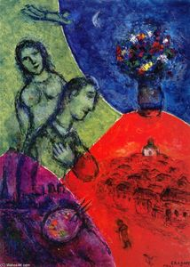 Marc Chagall - Self Portrait with Bouquet