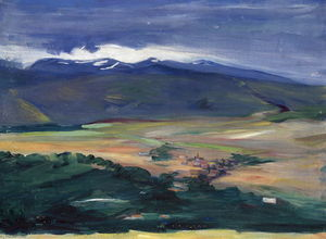 Martiros Saryan - Ashtarak in hazy day