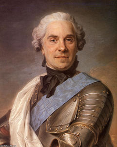 Maurice Quentin De La Tour - Portrait of Maurice of Saxony