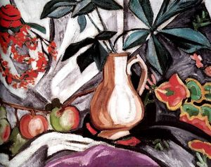 Olga Vladimirovna Rozanova - Still Life with Peatcher and Apples