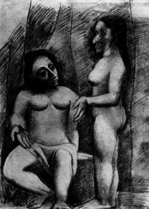Pablo Picasso - Seated nude and standing nude
