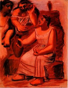 Pablo Picasso - Three women at a fountain (study)