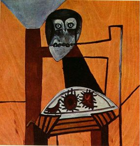 Pablo Picasso - Owl on a chair and sea urchins