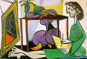 Pablo Picasso - Interior with girl drawing