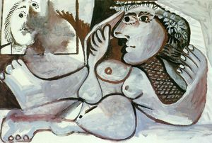Pablo Picasso - Reclining Nude with wreath