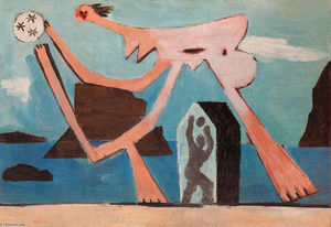Pablo Picasso - Ballplayers on the beach