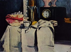 Paul Cezanne - The Black Marble Clock