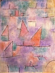 Paul Klee - Harbour with sailing ships
