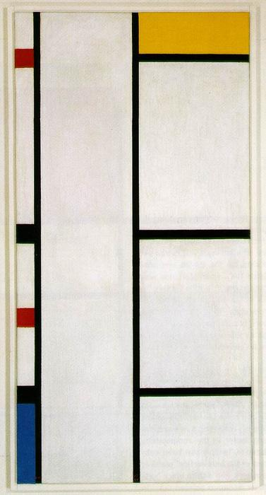 famous painting Composition No. III Blanc-Jaune of Piet Mondrian