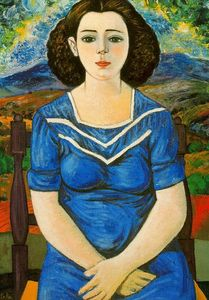 Rafael Zabaleta Fuentes - Portrait of seated brunette