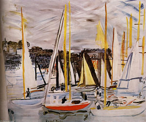 Raoul Dufy - The Basin of Deauville