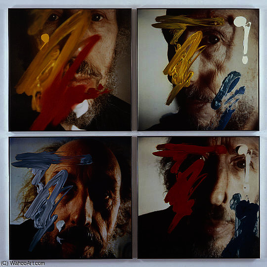 famous painting Four Self-Portraits 05.3.81 of Richard Hamilton