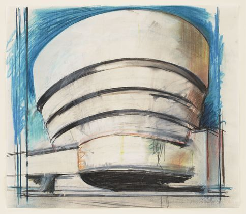 famous painting The Solomon R. Guggenheim - Architect's visual of Richard Hamilton