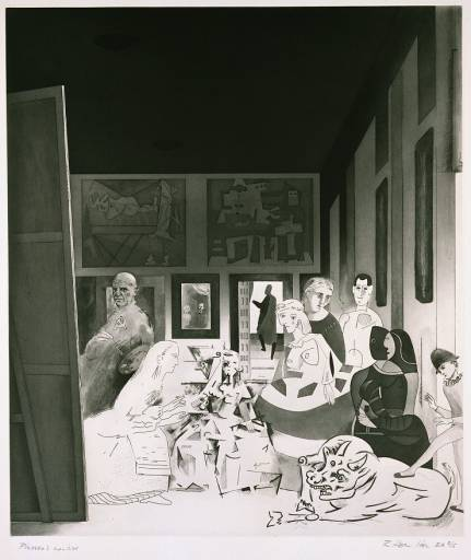 famous painting Picasso's meninas of Richard Hamilton
