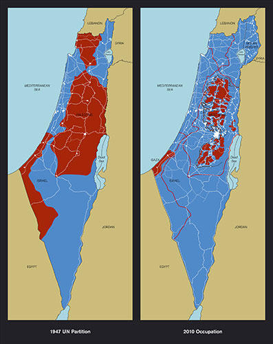 famous painting Maps of Palestine of Richard Hamilton