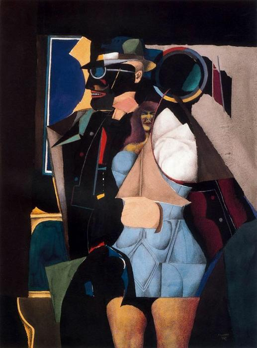 famous painting Untitled of Richard Lindner