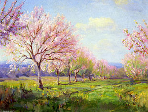 Robert Julian Onderdonk - Peach Orchard on Mavericks Farm
