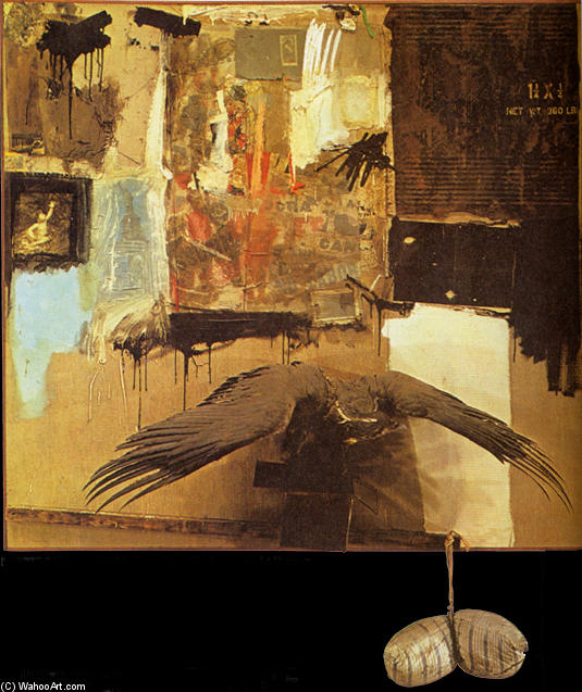famous painting Canyon of Robert Rauschenberg